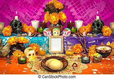 Day of the dead altar Dia de Muerto - Traditional mexican...