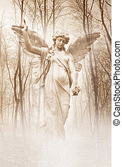 Forest Angel - Angelic female figure materialising in an...
