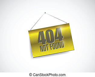 404 not found hanging banner
