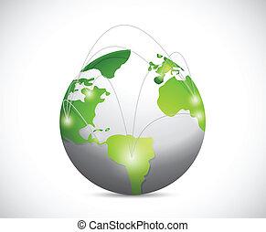 global network illustration design