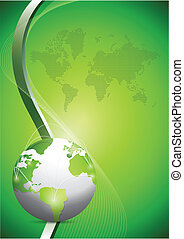 global network communication concept over a green background