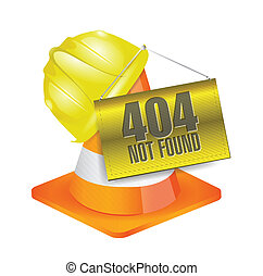 404 not found construction concept
