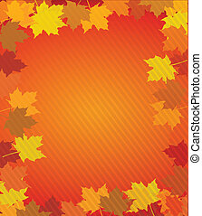 autumn leaves thanksgiving boarder illustration design over...