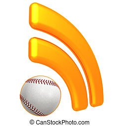 RSS Baseball Feed - 3D Concept And Presentation Figure