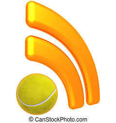 RSS Tennis Feed - 3D Concept And Presentation Figure