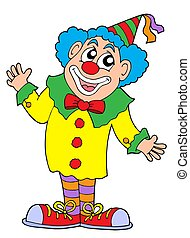 Clown vector illustration - Clown in colorful outfit -...