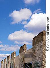 Parts of the berlin wall in potsdamer platz, Berlin, Germany