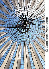 Futuristic roof at Sony Center, Potsdamer Platz - Futuristic...