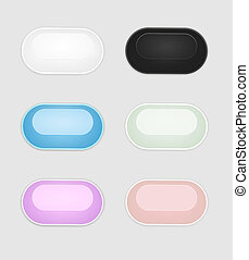 The oval button set