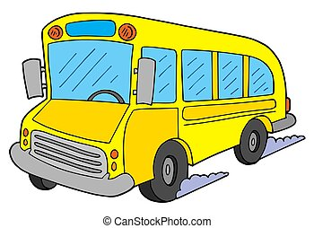 School bus - Yellow school bus - isolated illustration