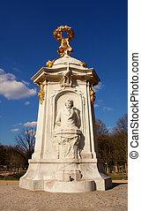 貝多芬, 雕像, TIERGARTEN, 中心, 城市, 公園
