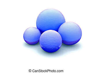 Blue balls - blue balls on white