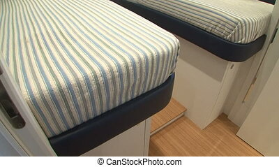 Twin beds in boat cabin - Twin beds in luxury boat cabin