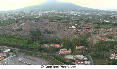 Aerial view of Pompei ruins - Aerial view of Pompei...