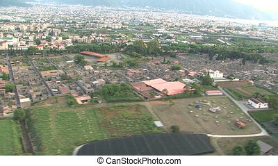 Aerial view of Pompei ruins