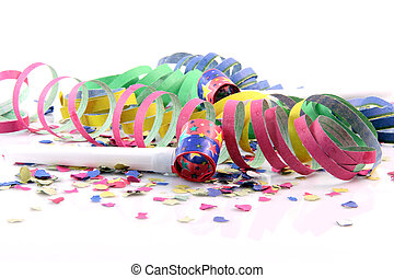 Confetti streamers blowers - holidays and party time paper...