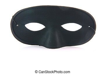 black mask with reflection - black mask of zorro with...
