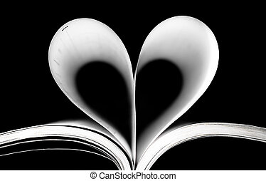 Heart of pages - Pages of a book shaped like a heart
