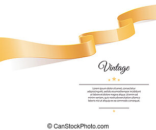Gold ribbon - Vector illustration of Gold ribbon