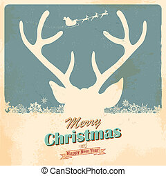 Christmas Reindeer - illustration of Christmas Reindeer in...