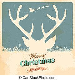 Christmas Reindeer - illustration of Christmas Reindeer in...