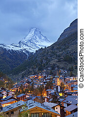 Zermatt and Matterhorn. - Image of Zermatt and the...