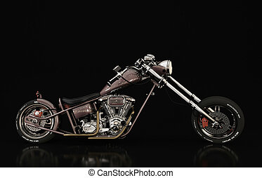 motorcycle model - 3D Illustration and rendering detail...