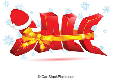Christmas Sale - illustration of Christmas Sale background...
