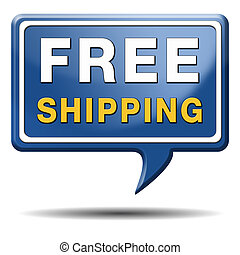 free shipping or delivery order web shop shipment for online...