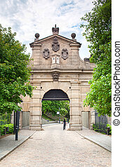 Gate to Vysehrad Prague - Main Gate to National Cultural...