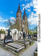 Vysehrad church in Prague - Vysehrad church and cemetery