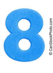 Foam Digit Eight - The digit eight in foam material.