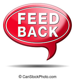 feed back icon - feedback button. Comment and share your...