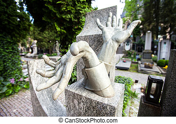 Prague Vysehrad cemetery - PRAGUE, CZECH REPUBLIC Stony...