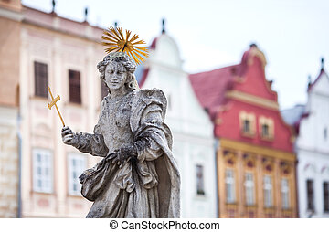 Telc Sculpture - Telc - Czech Republic Old UNESCO city Old...