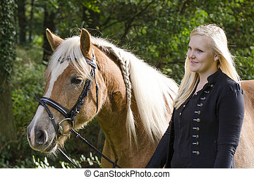 Portrait Mensch und Pferd - Portrait von Mandy und ihrem...