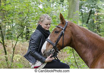 Frundschaft: Meike und Piccadilly - Portrait von Meike und...