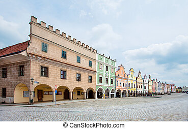 Telc Czech Republic - Telc, Czech Republic Unesco city A row...