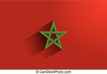 Flag of Morocco - Creative Abstract Flag of Morocco...
