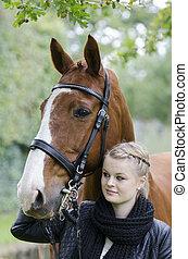 Meike und Piccadilly - Portrait von Meike und ihrem...