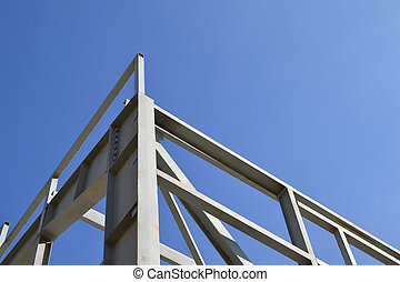 met constructional on the blue sky