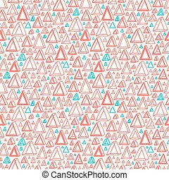 Triangle shapes abstract seamless pattern