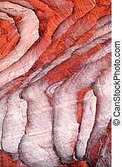 Sandstone gorge abstract pattern formation, Rose City cave,...