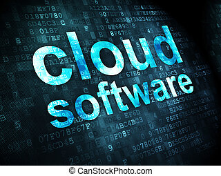 Cloud networking concept: Cloud Software on digital...