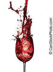 rouges, vin, éclaboussure