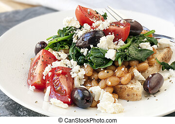 Healthy Beans Breakfast - Healthy baked beans on wholewheat...