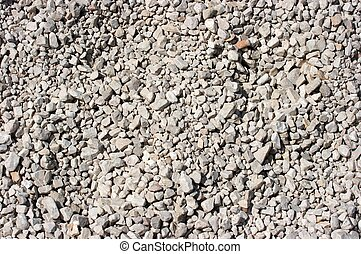 Stones - Closeup of many little white stones