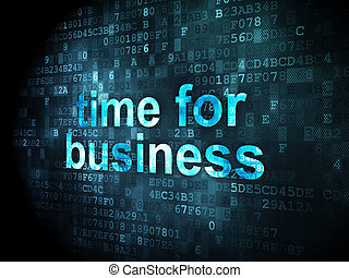 Time concept: Time for Business on digital background - Time...