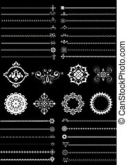 Collection borders and ornaments - Collection of decorative...