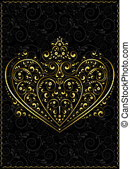 Gold openwork pattern in the form o